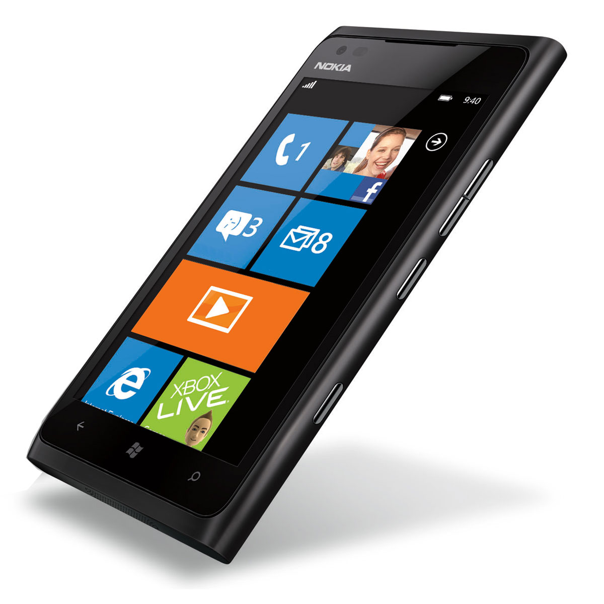 nokia lumia 900 noir mobile smartphone nokia sur. Black Bedroom Furniture Sets. Home Design Ideas