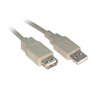 USB Rallonge USB 2.0 Type AA (Mâle/Femelle) - 0.5 m  Rallonge USB 2.0 Type AA (Mâle/Femelle) - 0.5 m