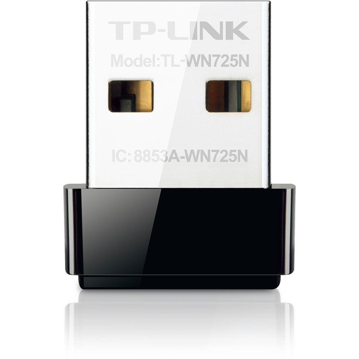 Carte réseau TP-LINK TL-WN725N Clé USB nano Wi-Fi N (150 Mbps)