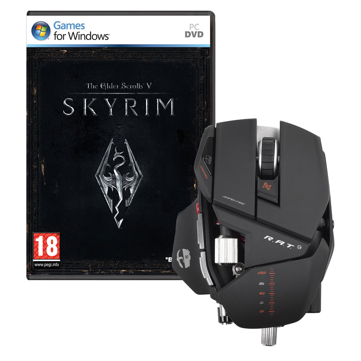 cyborg r a t 9 wireless gaming mouse the elder scrolls v skyrim souris pc cyborg sur. Black Bedroom Furniture Sets. Home Design Ideas