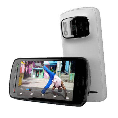 """Mobile & smartphone Nokia 808 PureView Blanc Smartphone 3G+ avec écran tactile 4"""" sous Symbian"""