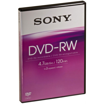 sony dvd rw 4 7 go certifi 2x pack de 5 bo tier dvd dvd sony sur. Black Bedroom Furniture Sets. Home Design Ideas