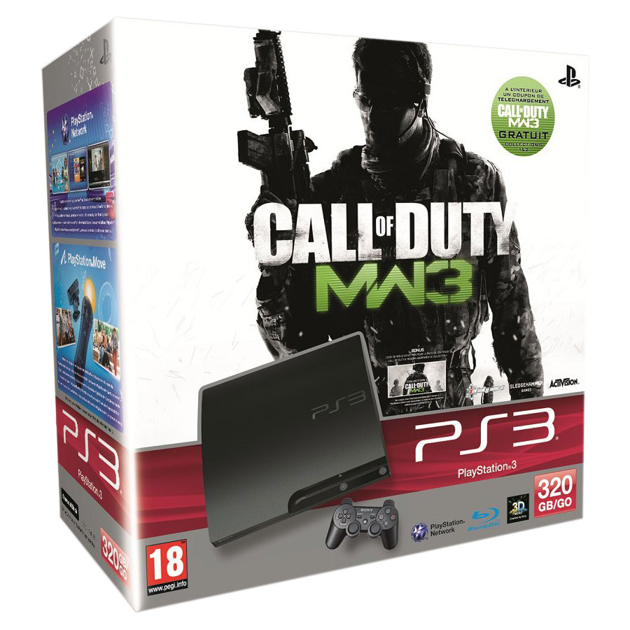 LDLC Sony PlayStation 3 Slim 320 Go Pack Call Of Duty Modern Warfare