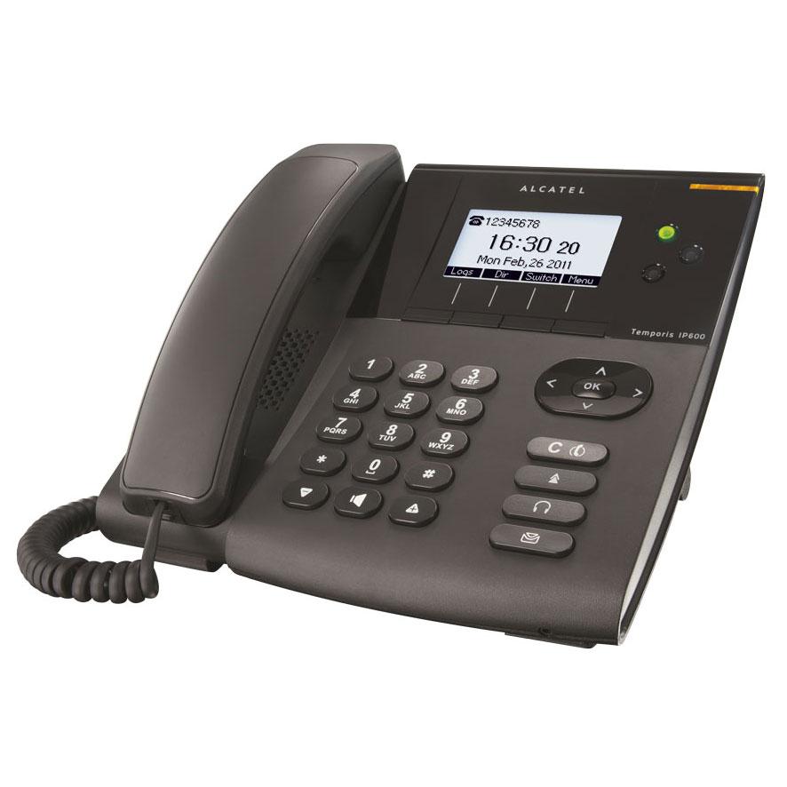 Téléphonie VoIP Alcatel Temporis IP600 PoE Téléphone filaire pour VoIP compatible SIP PoE