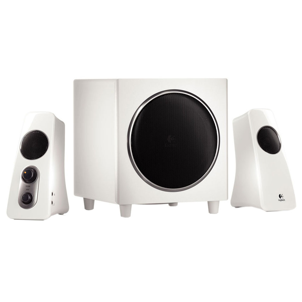 logitech speaker system z523 blanc enceinte pc logitech sur. Black Bedroom Furniture Sets. Home Design Ideas
