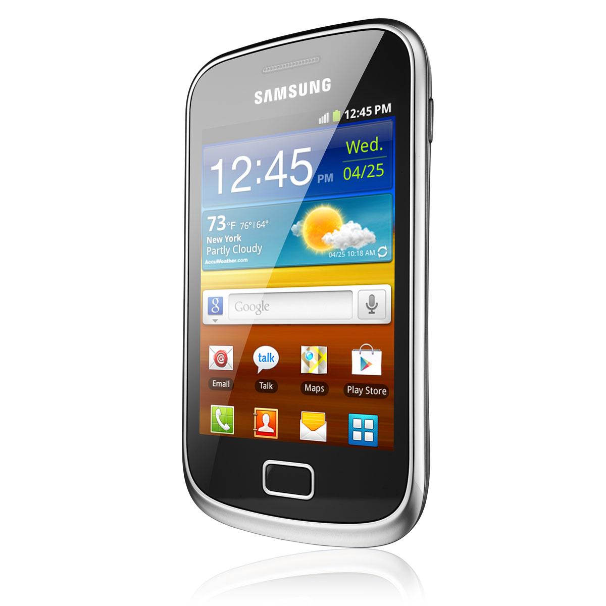 """Mobile & smartphone Samsung Galaxy Mini 2 GT-S6500 Noir Smartphone 3G+ avec écran tactile 3.27"""" sous Android 2.3"""
