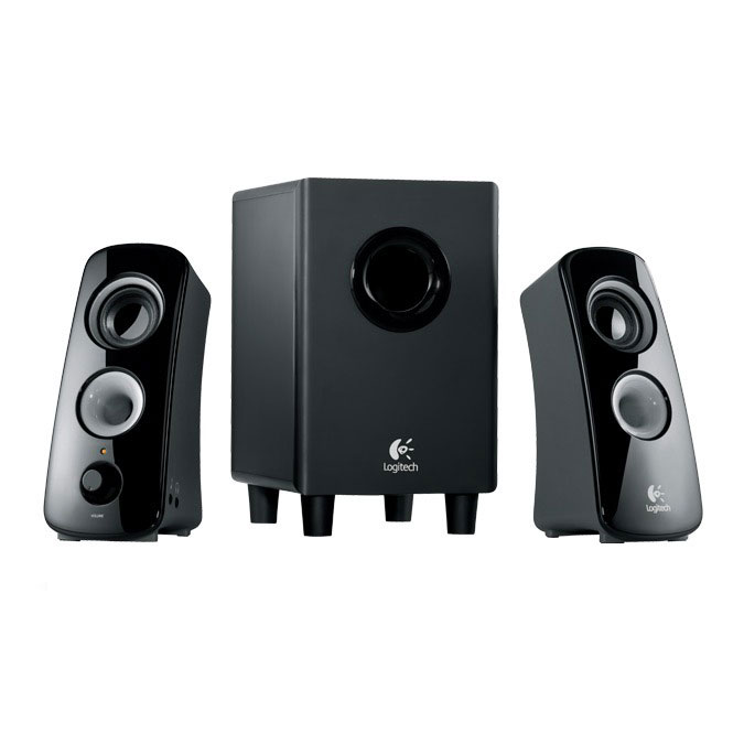 logitech speaker system z323 enceinte pc logitech sur. Black Bedroom Furniture Sets. Home Design Ideas