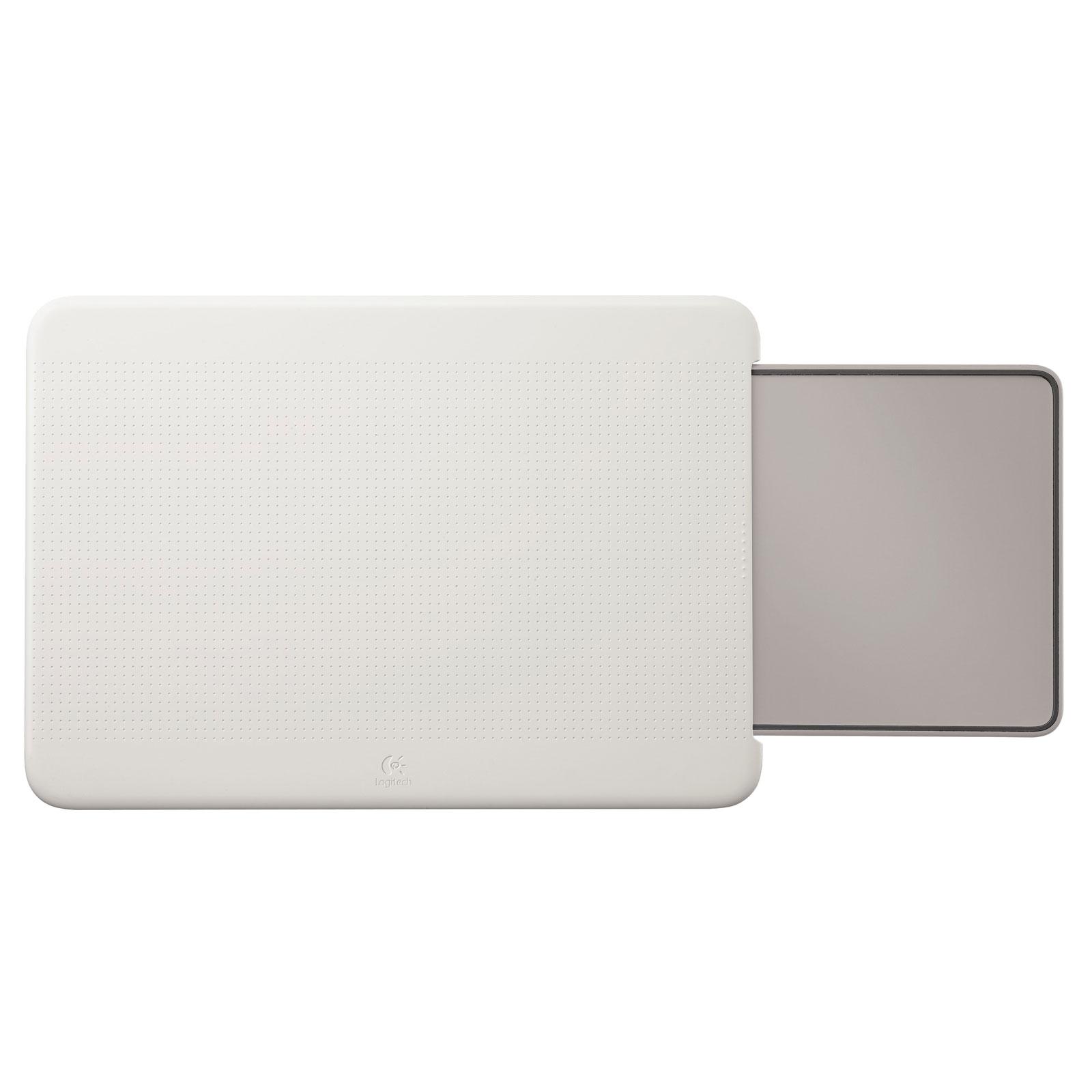 logitech portable lapdesk n315 blanc gris accessoires pc portable logitech sur. Black Bedroom Furniture Sets. Home Design Ideas
