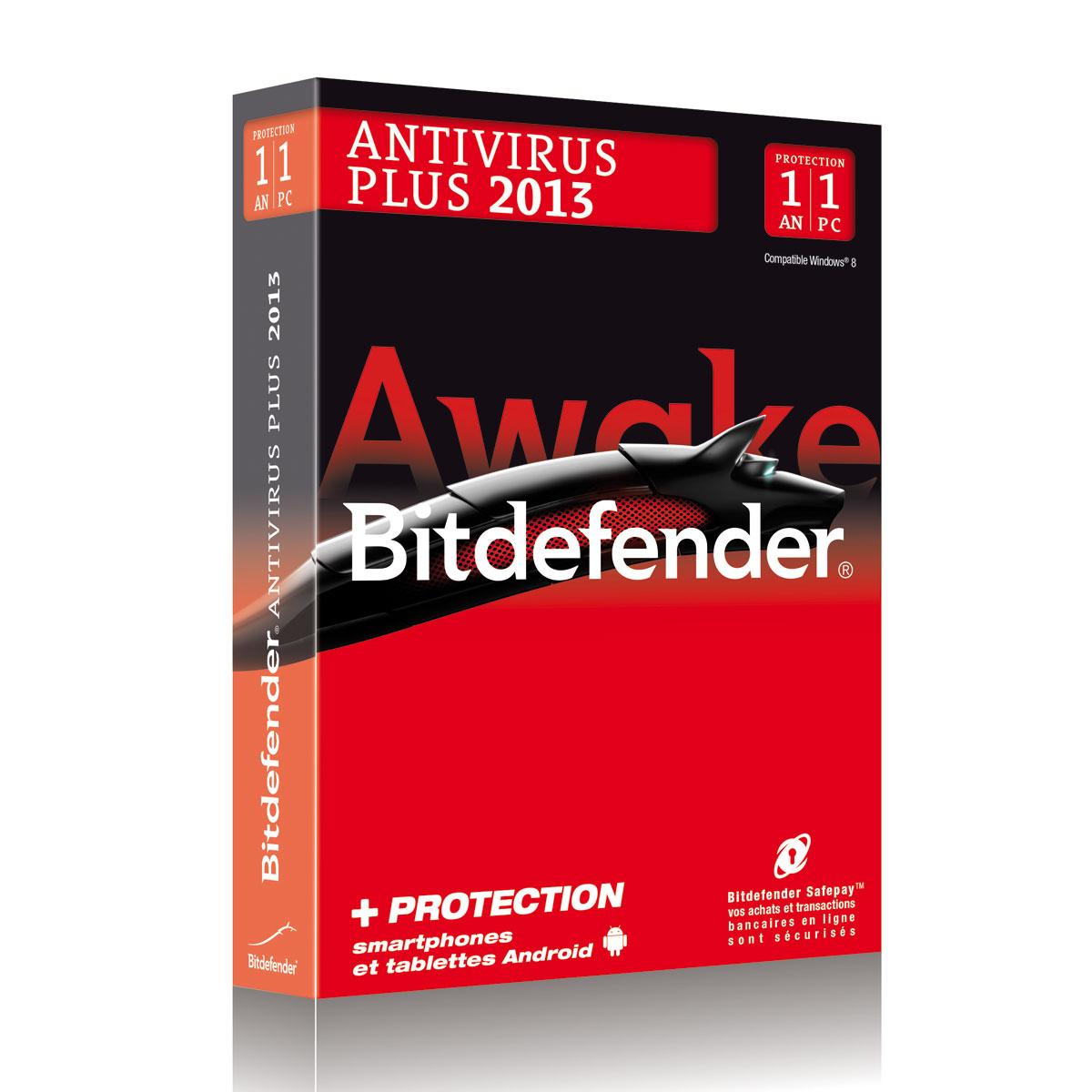 bitdefender antivirus plus 2013 licence 1 an 1 poste logiciel s curit bitdefender sur. Black Bedroom Furniture Sets. Home Design Ideas