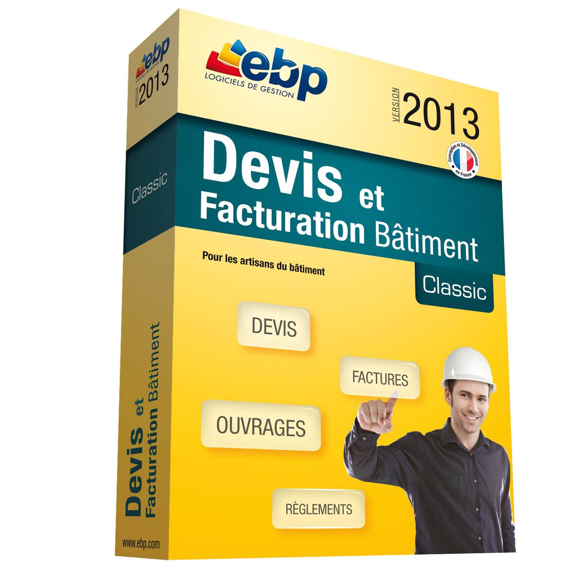 ebp devis et facturation bâtiment classic 2013