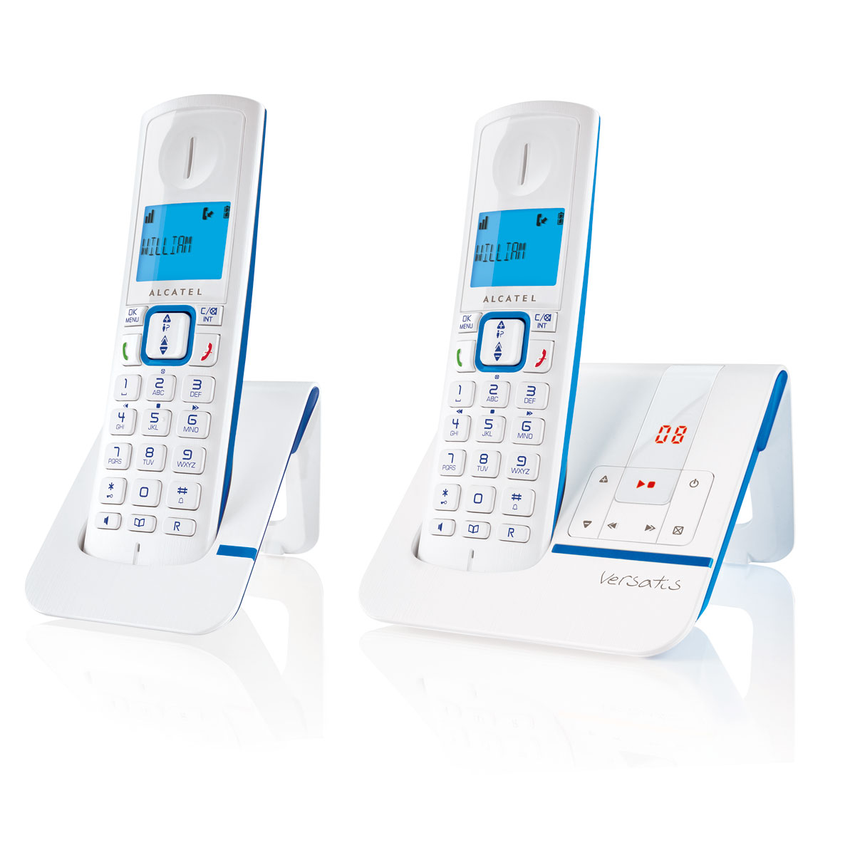alcatel versatis f230 voice duo bleu t l phone sans fil alcatel sur. Black Bedroom Furniture Sets. Home Design Ideas