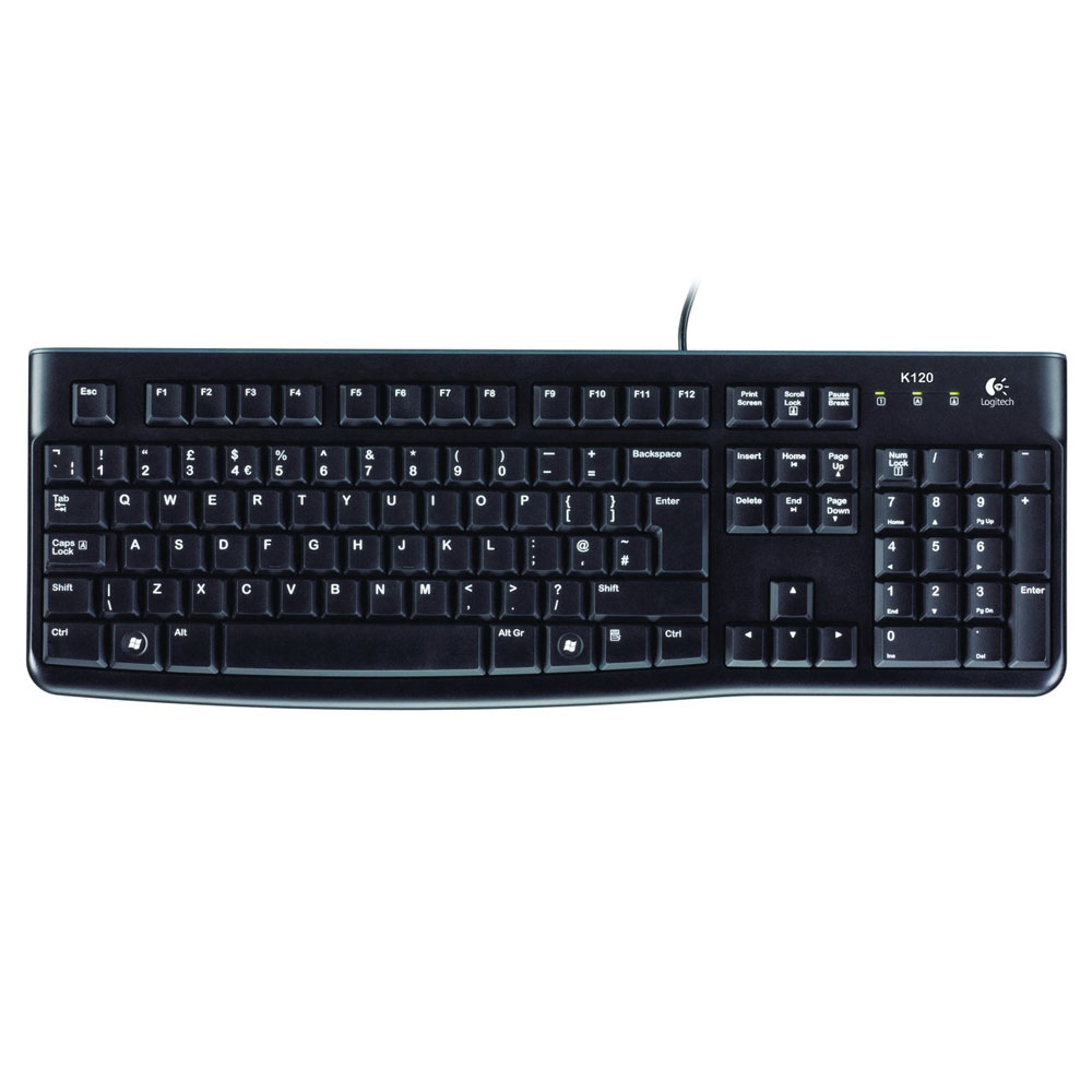 logitech keyboard k120 clavier pc logitech sur. Black Bedroom Furniture Sets. Home Design Ideas