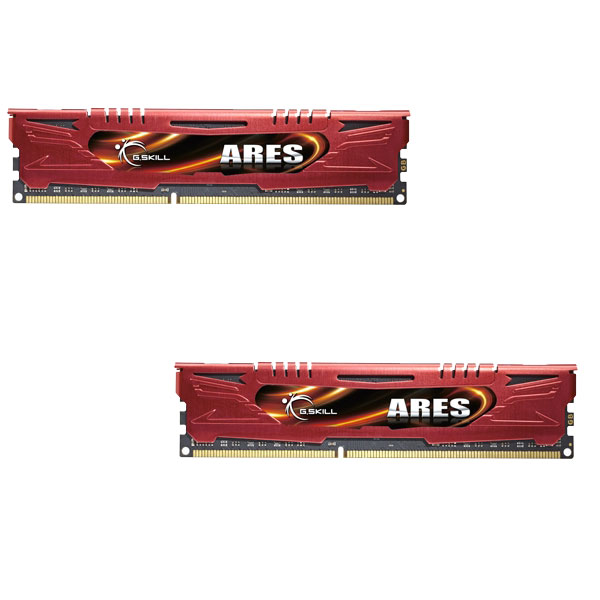 Mémoire PC G.Skill Ares Red Series 16 Go (2 x 8 Go) DDR3 1600 MHz CL9 Kit Dual Channel DDR3 PC3-12800 - F3-1600C9D-16GAR (garantie à vie par G.Skill)