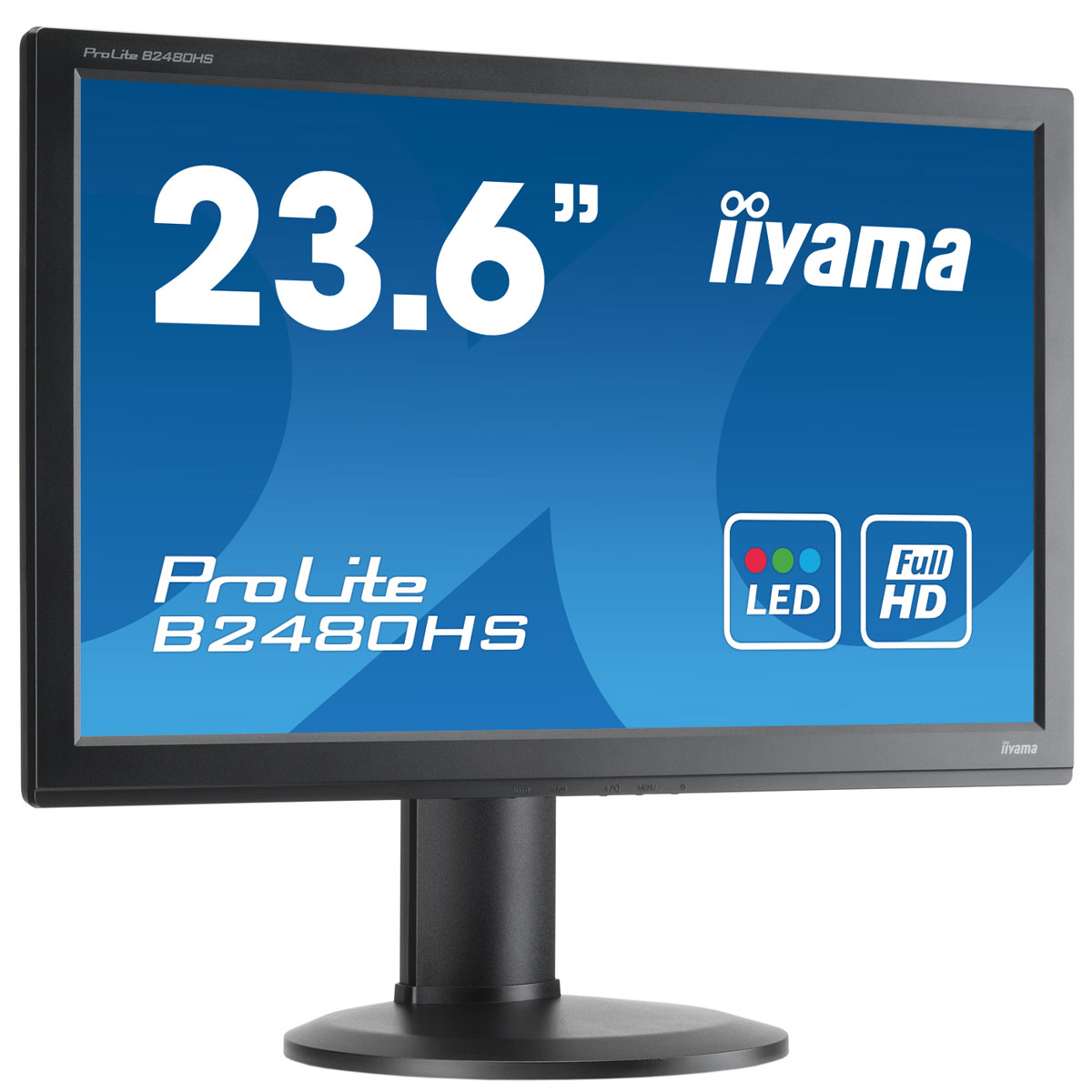 iiyama 23 6 led prolite b2480hs b1 ecran pc iiyama sur. Black Bedroom Furniture Sets. Home Design Ideas