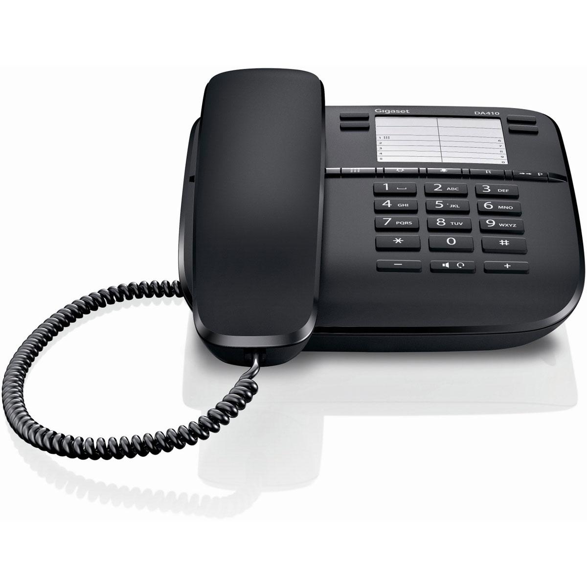 Téléphone filaire Gigaset DA410 Téléphone filaire avec mode mains-libres (version française)