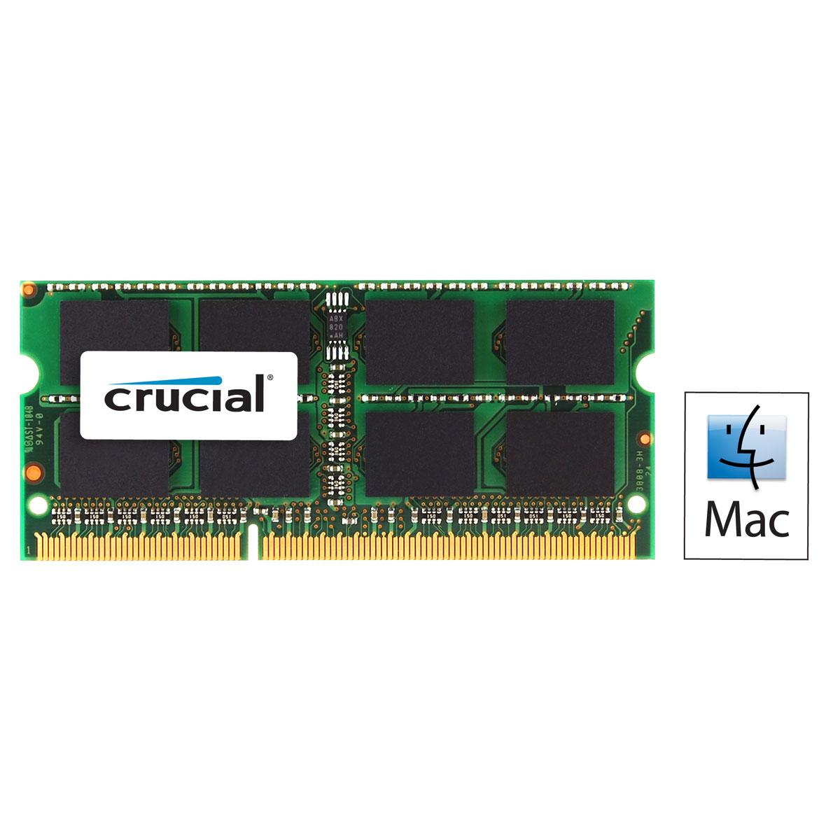 Mémoire PC Crucial for Mac SO-DIMM 2 Go DDR3 1066 MHz CL7 RAM SO-DIMM DDR3 PC8500 - CT2G3S1067MCEU (garantie à vie par Crucial)