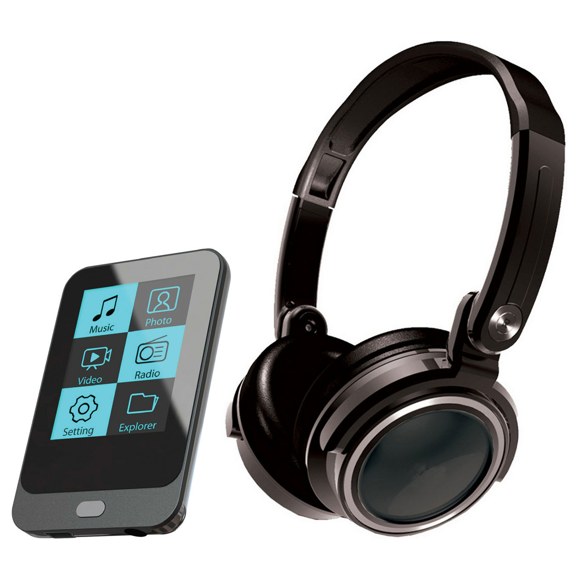 mpman ts200 4 go casque lecteur mp3 ipod mp man sur. Black Bedroom Furniture Sets. Home Design Ideas