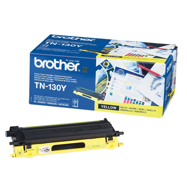 Toner imprimante Brother TN-130Y Toner Jaune (1 500 pages à 5%)