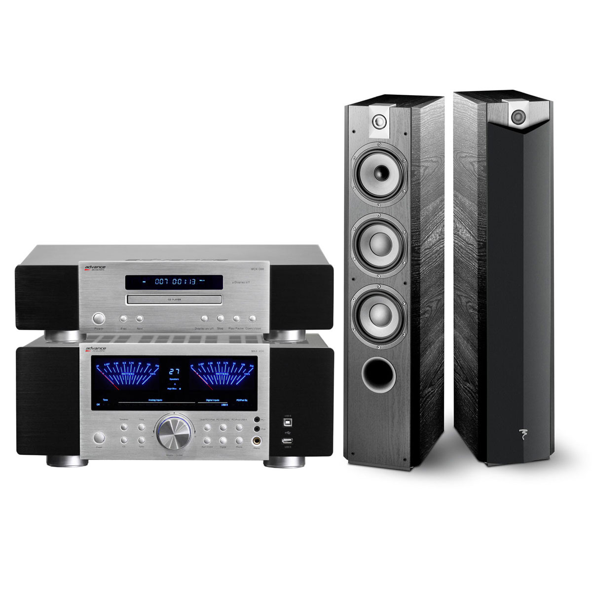 advance acoustic max 450 bs dac mcx 300 bs 2x. Black Bedroom Furniture Sets. Home Design Ideas