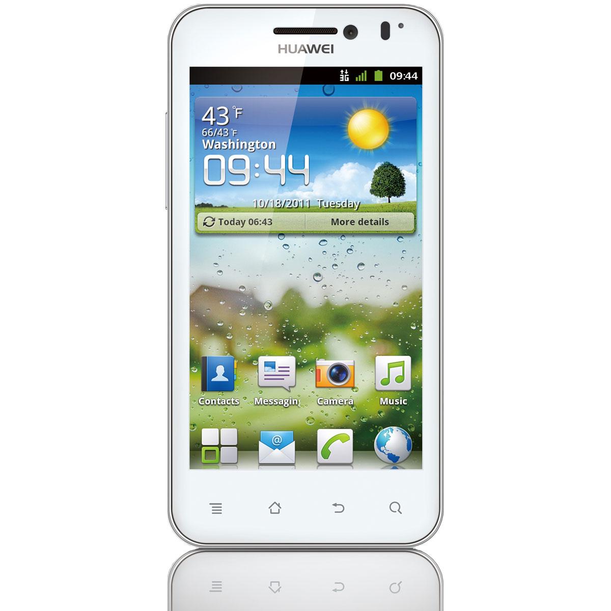 "Mobile & smartphone Huawei Honour Blanc Smartphone 3G+ avec écran tactile 4"" sous Android 4.0"