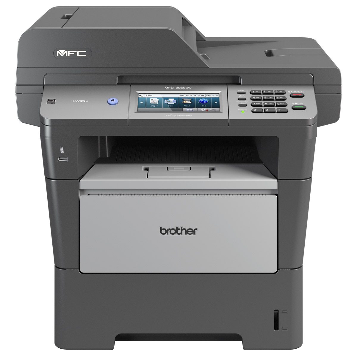 Imprimante multifonction Brother MFC-8950DW Imprimante Multifonction laser monochrome 4-en-1 (USB 2.0/Ethernet/Wi-Fi b/g/n)