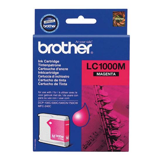 Cartouche imprimante Brother LC1000M Cartouche d'encre magenta (500 pages à 5%)