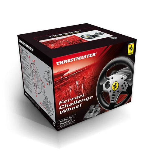 thrustmaster ferrari challenge racing wheel pc ps3 volant pc thrustmaster sur. Black Bedroom Furniture Sets. Home Design Ideas