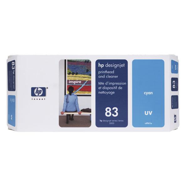 Cartouche imprimante HP 83 - C4961A Cartouche d'encre cyan + Dispositif de nettoyage