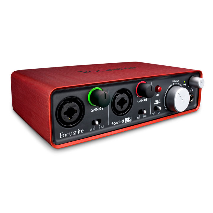 Interface Audio Focusrite Scarlett 2i2 Interface audio USB 2.0 2 x 2 avec 2 préamplis
