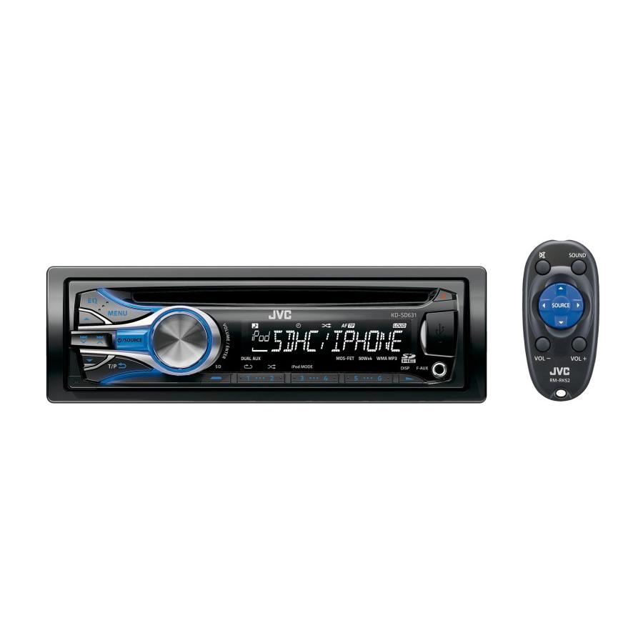 Jvc kd sd631 autoradio jvc sur - Lecteur cd pour voiture avec port usb ...