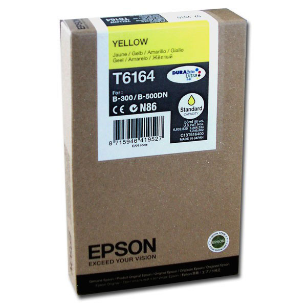 Cartouche imprimante Epson T6164 Cartouche d'encre jaune