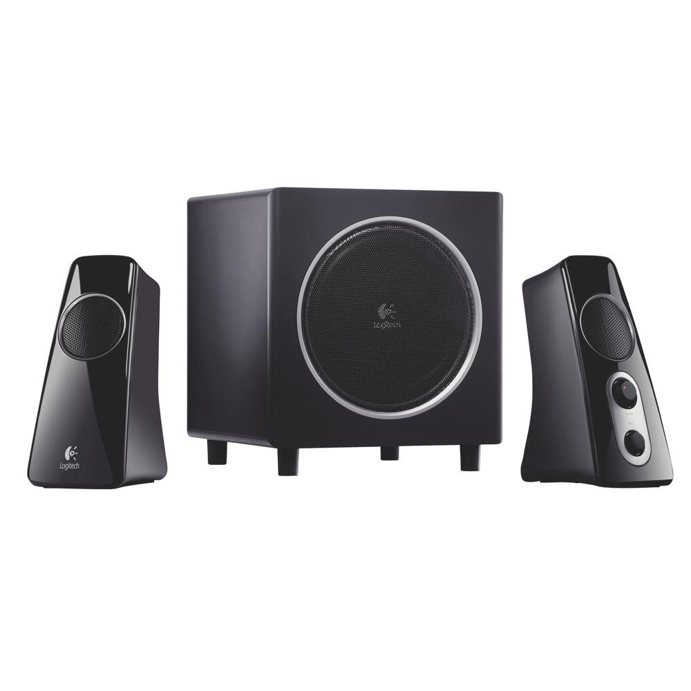 Enceinte PC Logitech Speaker System Z523 Noir Ensemble 2.1 compatible Logitech Squeezebox / PS3 / Xbox 360 / Wii et iPod