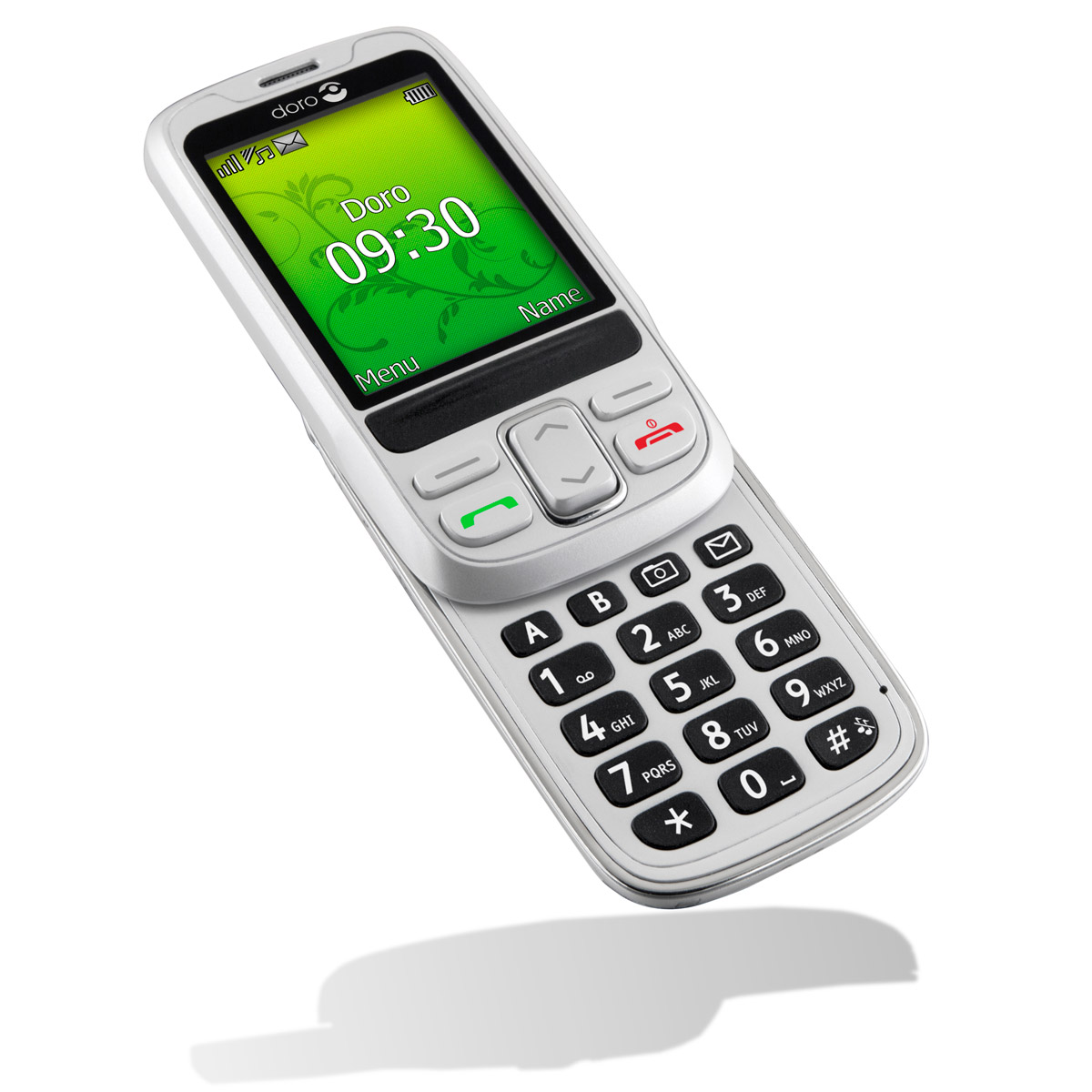Doro phoneeasy 715 blanc mobile smartphone doro sur for Telephone portable a touches