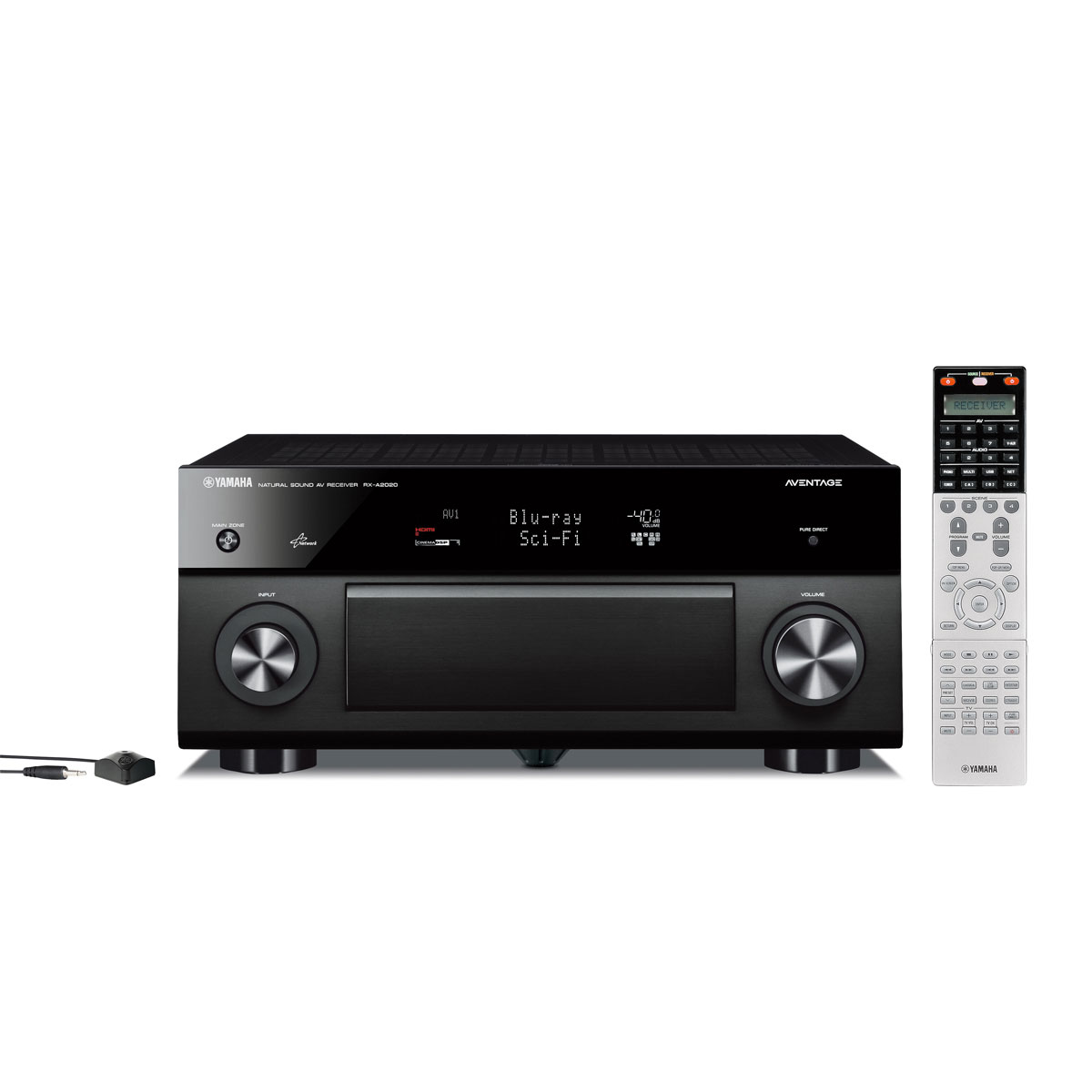 Ampli home cinéma Yamaha RX-A2020 Noir Ampli-tuner Home Cinema Aventage 3D Ready 9.2 DLNA AirPlay avec 8 entrées HDMI 1.4, Décodeurs HD et traitement vidéo HQV