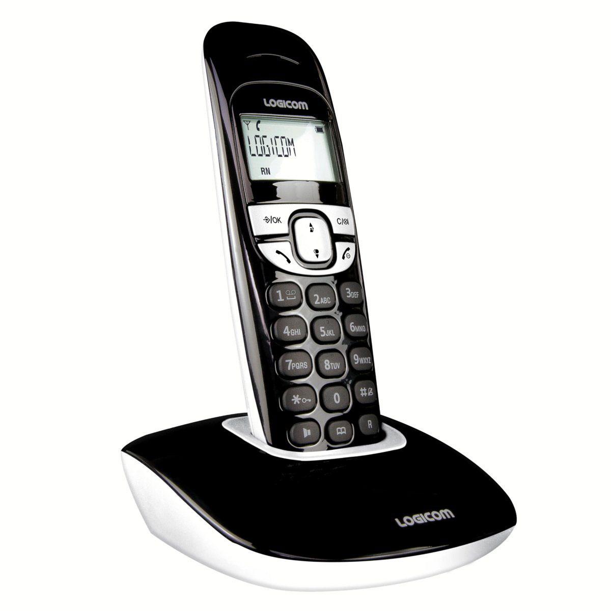 logicom soly 150 classic noir t l phone sans fil logicom sur. Black Bedroom Furniture Sets. Home Design Ideas