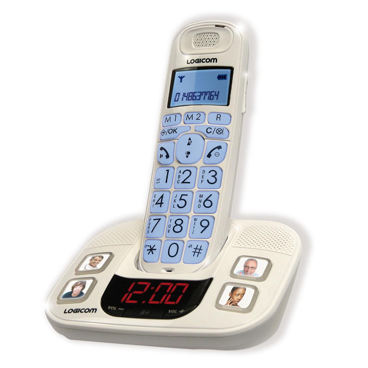 logicom gt350 t l phone sans fil logicom sur. Black Bedroom Furniture Sets. Home Design Ideas