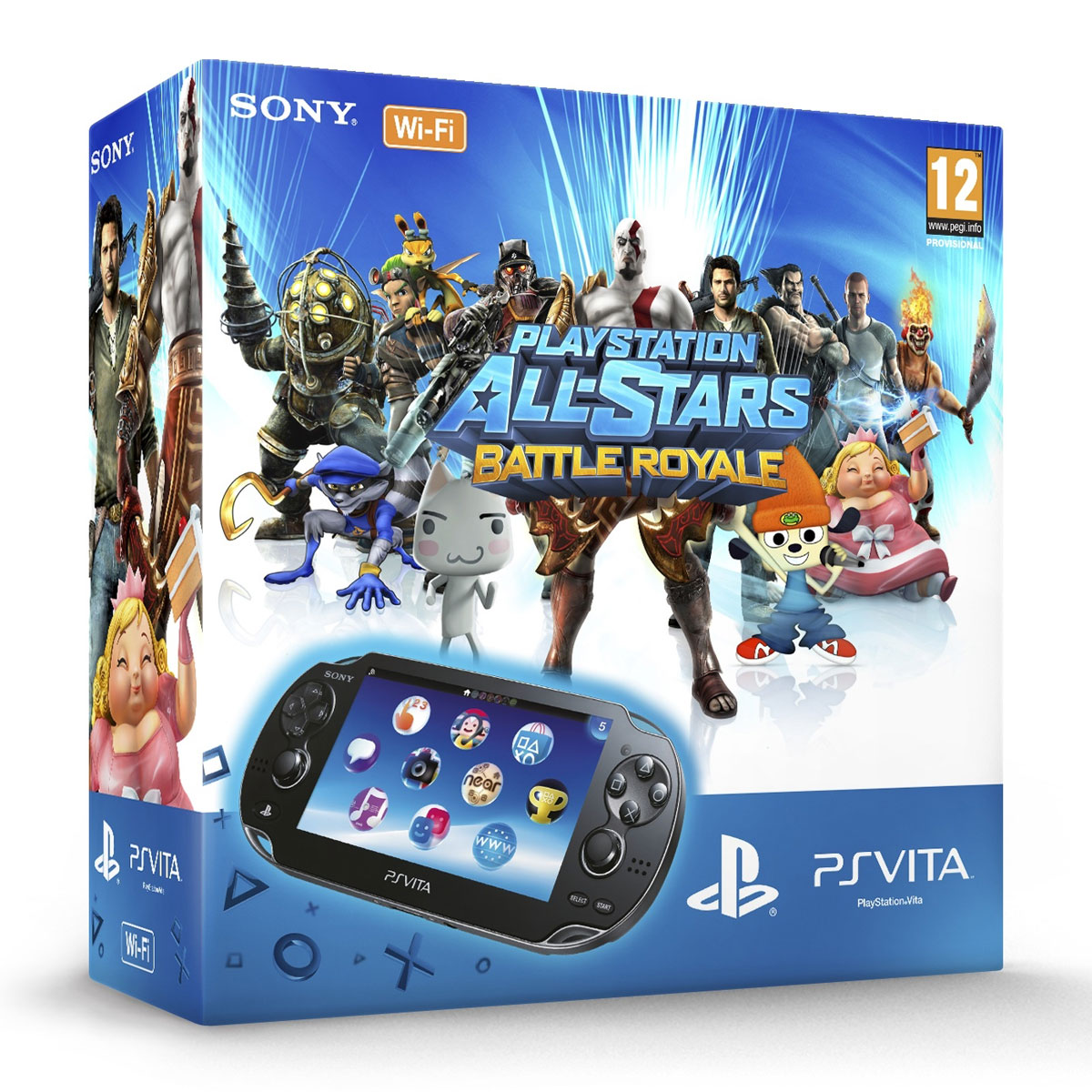sony ps vita wifi noire playstation all stars battle royale carte m moire 4 go. Black Bedroom Furniture Sets. Home Design Ideas