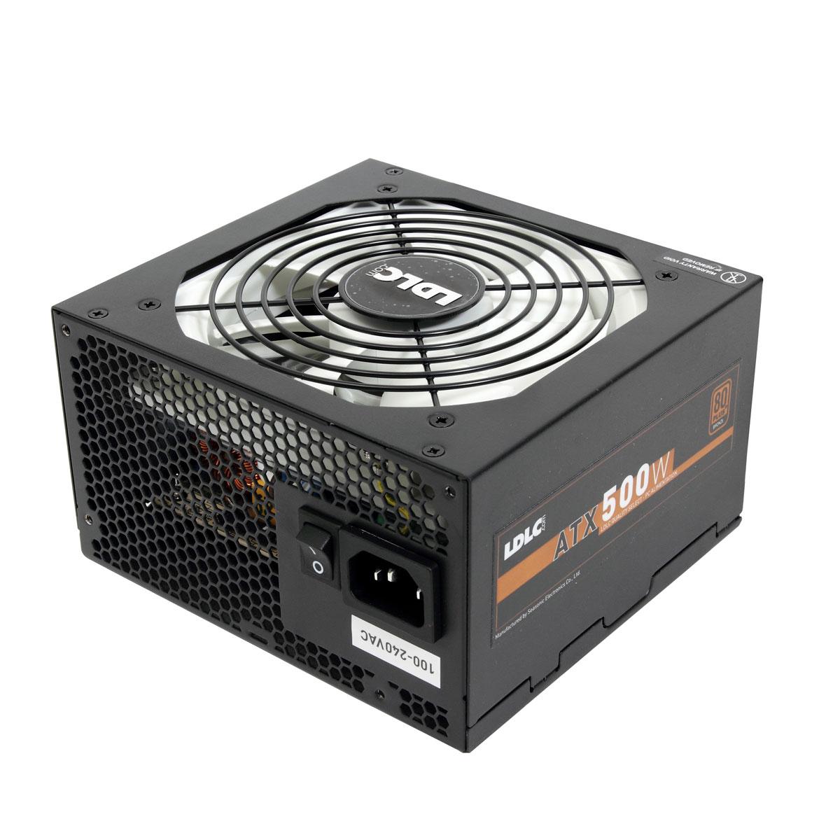 Alimentation PC LDLC BG-500 Quality Select 80PLUS Bronze Alimentation 500W ATX 12V Ventilateur 120 mm - 80PLUS Bronze