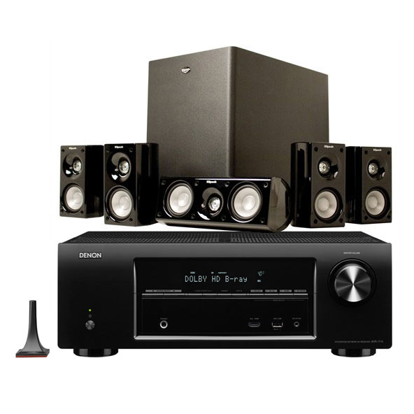 denon avr 1713 noir klipsch hd theater 500 ensemble home cin ma denon sur. Black Bedroom Furniture Sets. Home Design Ideas