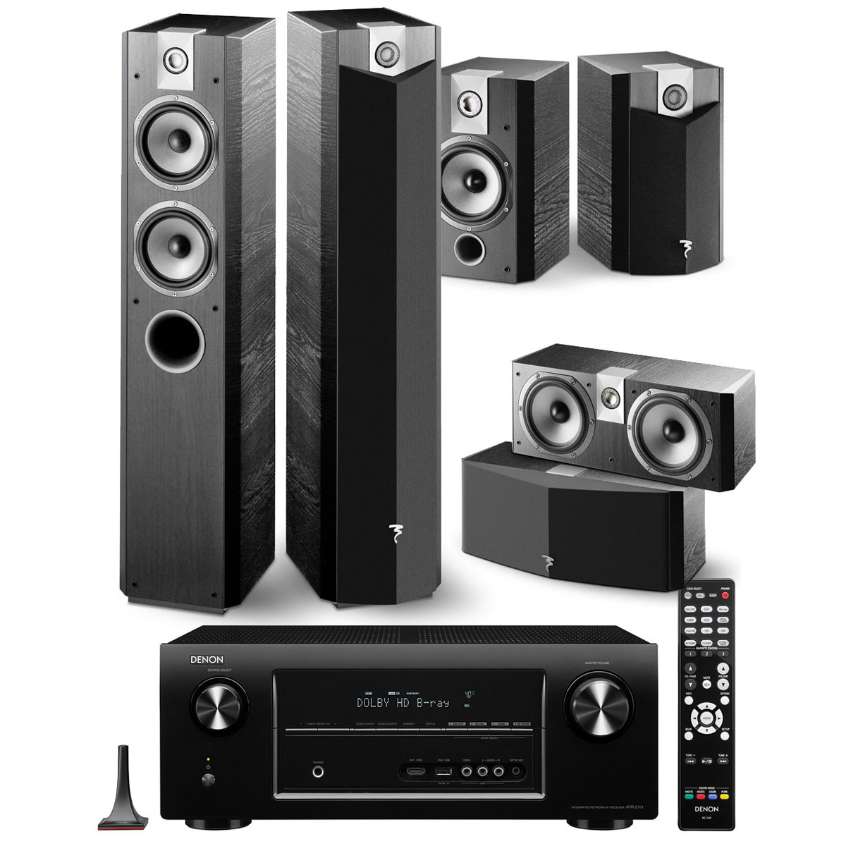 denon avr 2113 noir focal chorus 714 v cc 700 v 705 v black ash ensemble home cin ma. Black Bedroom Furniture Sets. Home Design Ideas