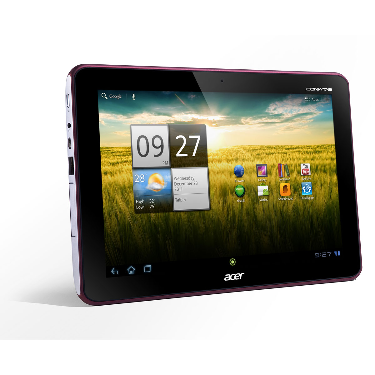acer iconia tab a200 rouge tablette tactile acer sur. Black Bedroom Furniture Sets. Home Design Ideas