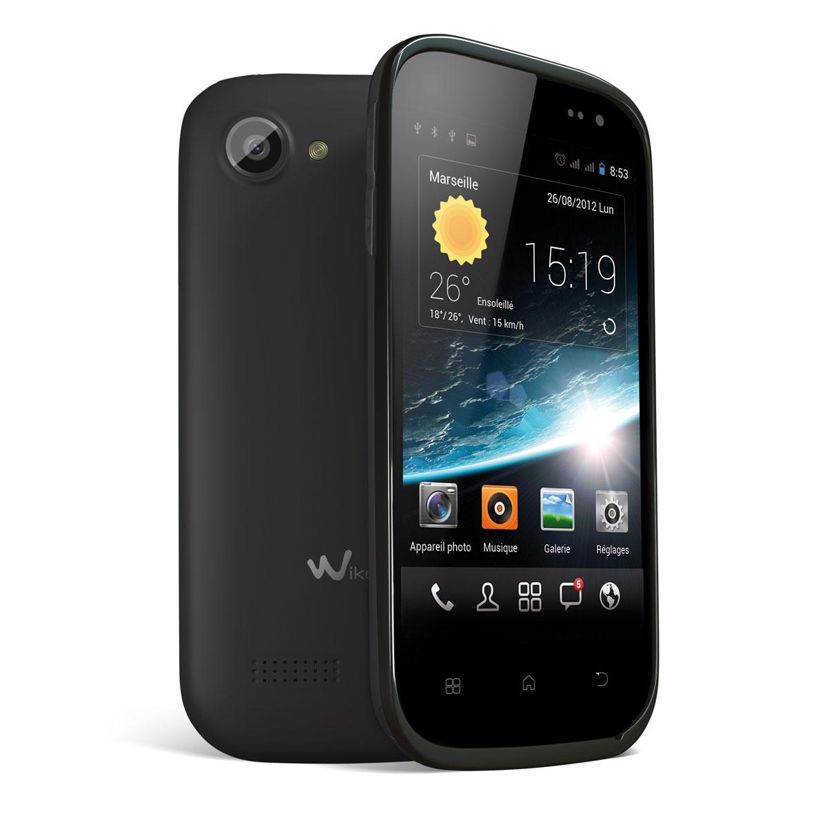 """Mobile & smartphone Wiko Cink Slim Noir Smartphone 3G+ Dual Sim avec écran tactile 4"""" sous Android 4.1 (Garantie constructeur 2 ans)"""