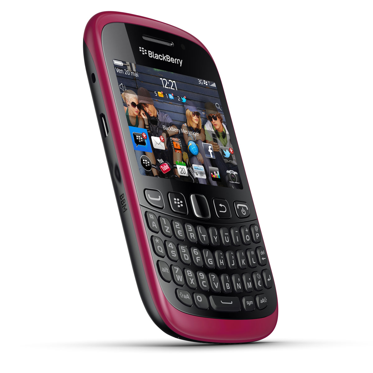 blackberry curve 9320 azerty rose mobile smartphone blackberry sur. Black Bedroom Furniture Sets. Home Design Ideas