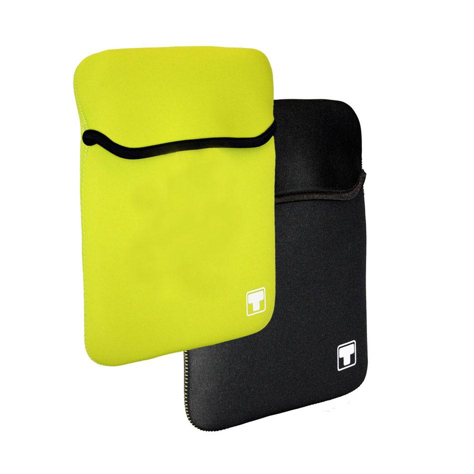 Sac, sacoche, housse White Crew HawAii 10.1'' (coloris jaune ou noir) Housse réversible pour netbook ou tablette (jusqu'à 10.1'')