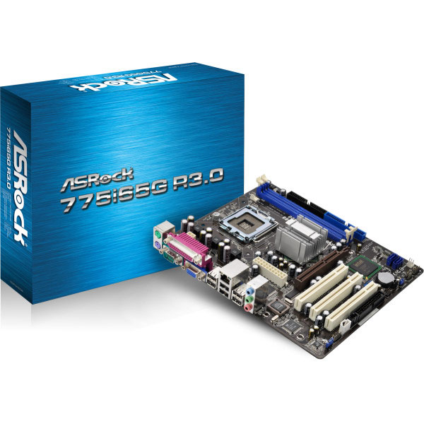 Carte mère ASRock 775i65G R3.0 Carte mère Micro ATX Socket 775 Intel 865G - SATA 3 Gbps - USB 2.0 - 1x AGP 8x