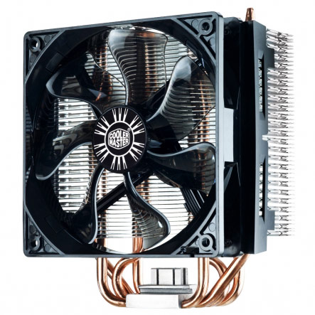Ventilateur processeur Cooler Master Hyper T4 Ventilateur pour processeur (pour socket Intel 775 / 1150/1151/1155 / 1156 / 1366 / 2011 et AMD FM1 / AM4 / AM3+ / AM3 / AM2)