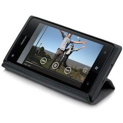 Etui téléphone Nokia CP-600 Etui silicone et cuir avec fonction inclinaison pour Nokia Lumia 920
