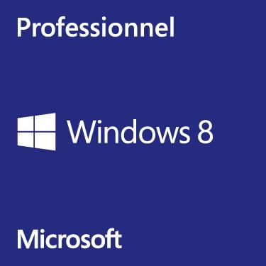 Windows Microsoft Windows 8 Professionnel 64 bits - OEM (DVD) Microsoft Windows 8 Pro 64 bits (français) - Licence OEM
