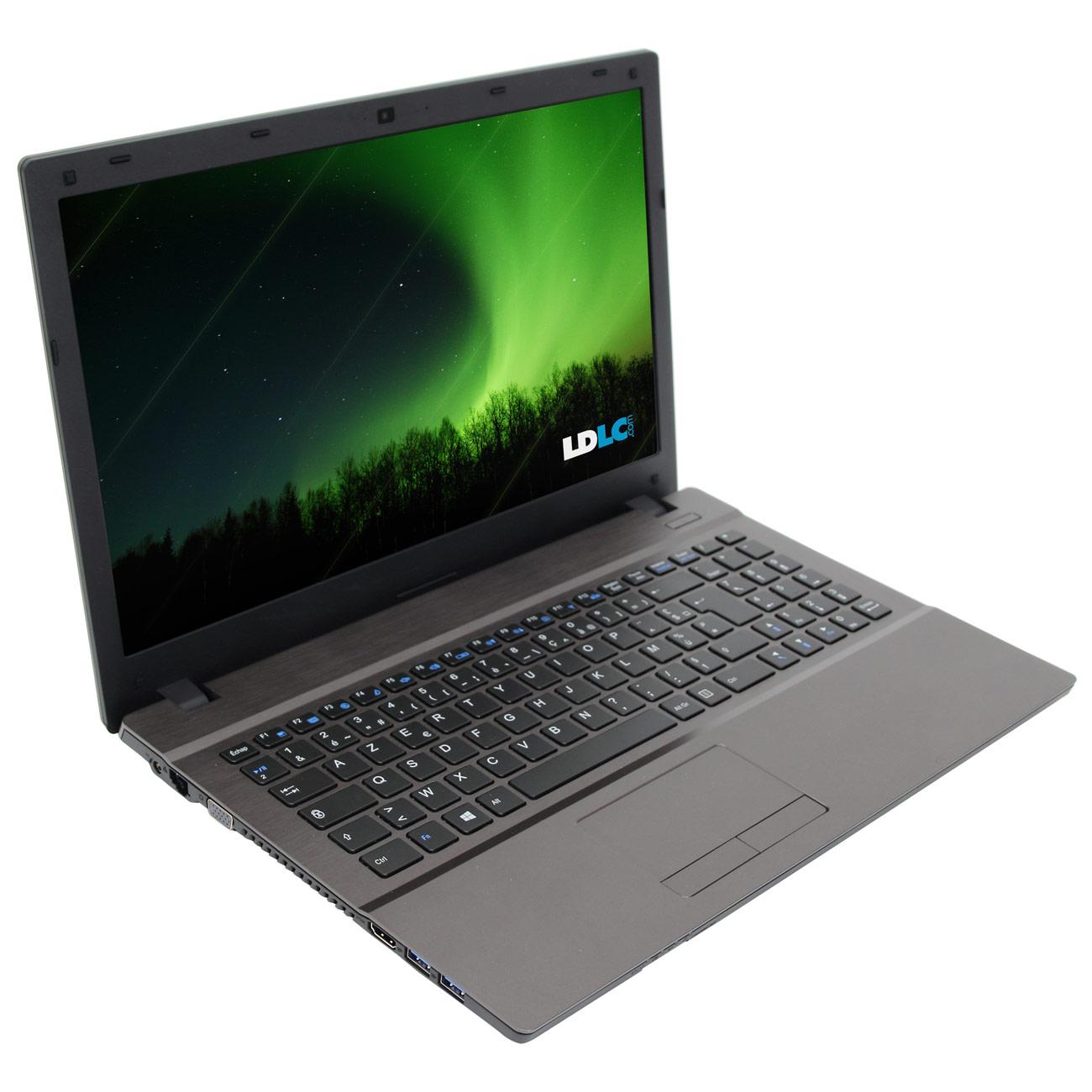 "PC portable LDLC Aurore BB5-I3-4-H5-H8 Slim Intel Core i3-2370M 4 Go 500 Go 15.6"" LED Graveur DVD Wi-Fi N/Bluetooth Webcam Windows 8.1 64 bits"