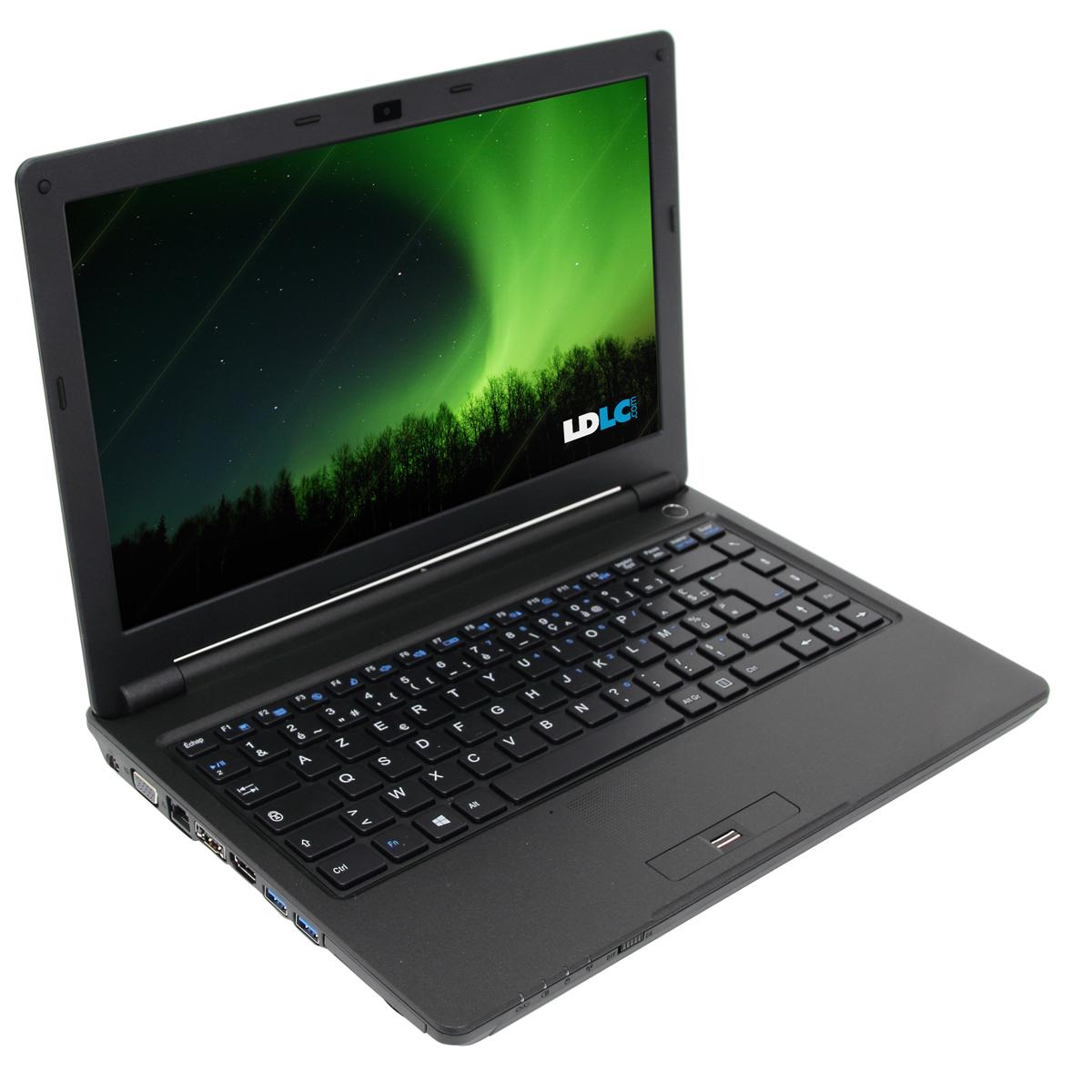 """PC portable LDLC Aurore LT1-B8-4-S1 Intel Celeron 1000M 4 Go SSD 120 Go 13.3"""" LED Graveur DVD externe Wi-Fi N/Bluetooth Webcam (sans OS)"""